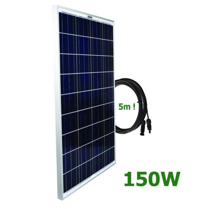 Kit Solar Camper 12v Placa Solar De 150w Regulador