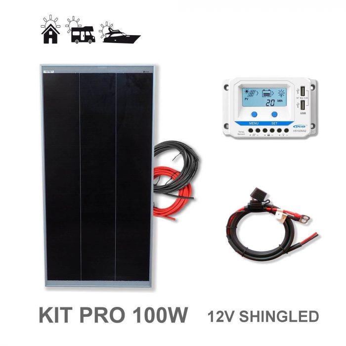 Kit Solar 100W Shingled