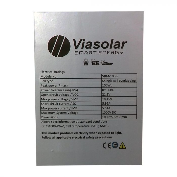 Panel Solar 100W shingled monocristalino